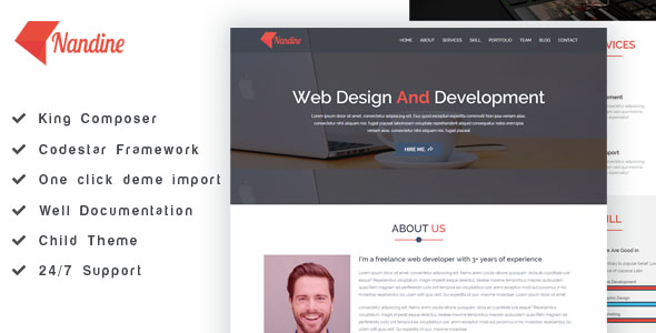 Portfolio WordPress Theme free